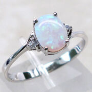 Sterling Silver Gemstone Ring Size 8