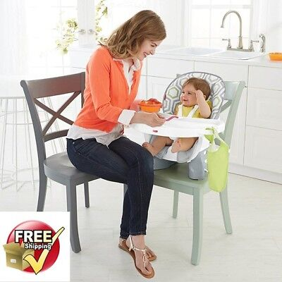 Fisher Price SpaceSaver High Chair Washable Cushion Baby Toddler Booster Seat