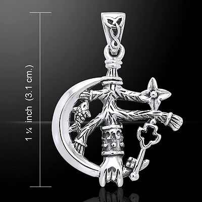 Cimaruta Witch .925 Sterling Silver Charm Pendant by Peter Stone