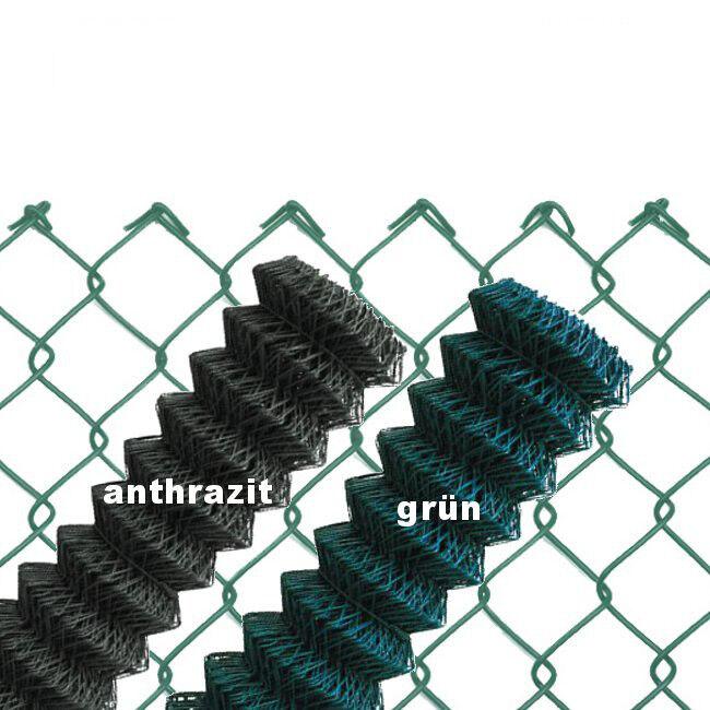 Maschendrahtzaun GRÜN ANTHRAZIT 60x2,8 Viereckgeflecht Maschinengeflecht Zaun