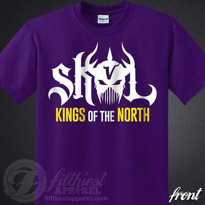Skol Vikings T Shirt Kings Shield The North Chant Minnesota Football Fan Jersey