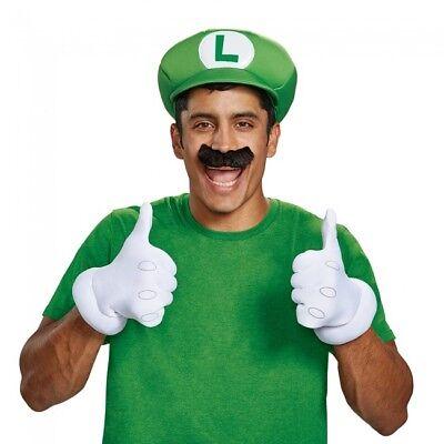 Disguise Super Mario Bros Luigi Erwachsene Halloween Kostüm Zubehörset - Mario Bros Halloween Kostüm