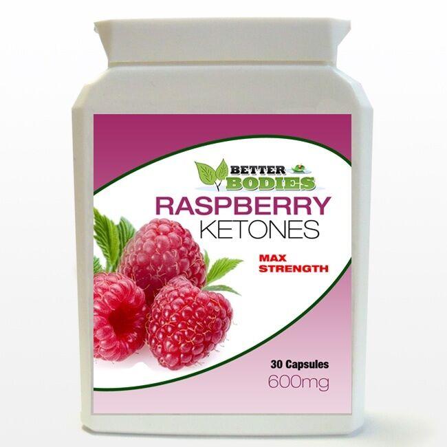 Max Strength Raspberry Ketones High 600mg Potent Strong Fat Burn
