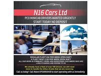 PCO MINICAB DRIVERS WANTED URGENTLY START TODAY NO DEPOSIT