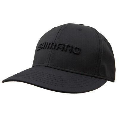 17a77a27 SHIMANO LOGO BLACKOUT FISHING CAP HAT MENS OSFM BLACK