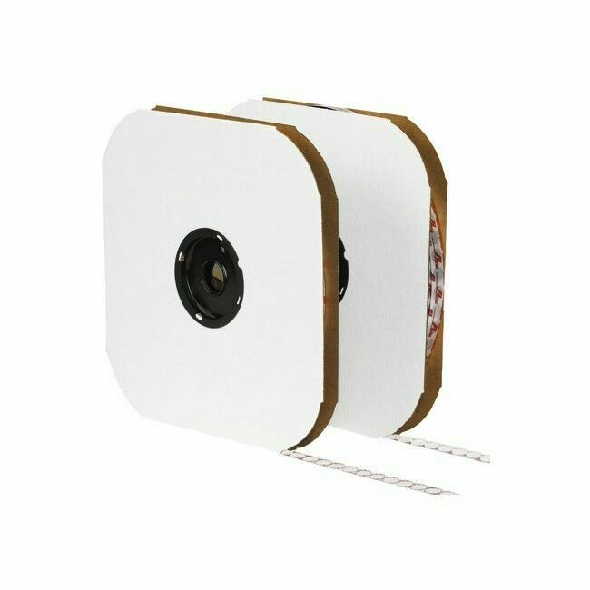 """3,600 Individual Velcro Hook & Loop Dot Tape 3/8"""" Diameter W"""