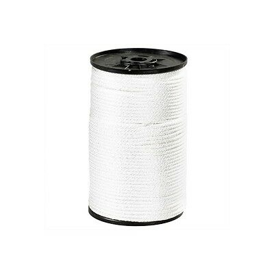"""Solid Braided Nylon Rope, 3/16, 620 lb, White, 500' Per Case"""