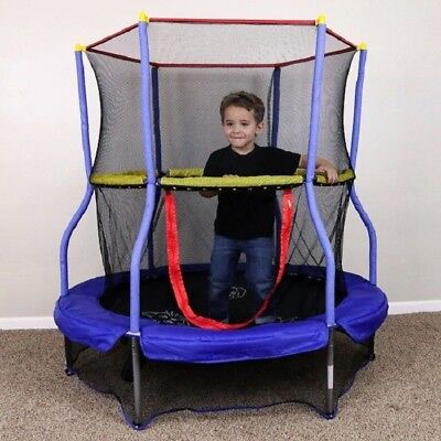 Trampoline For Kids Safety Enclosure Toddlers Active Mini Enclosed Net Bouncer