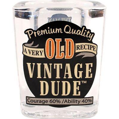 Vintage Dude Old 2 oz Shot Glass Adult Birthday Party Supplies - Vintage Dude Party Supplies