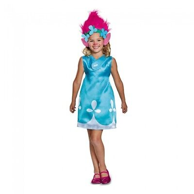 Disguise Troll Poppy Classic W/ Headband Child Girls Halloween Costume 97333