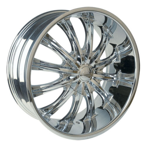 26 Inch Borghini B15 Chrome Wheels Rims & Tires Fit 6 X 5.5  Silverado Escalade