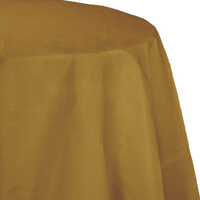 Gold 2/Ply Paper-Poly Round Tablecloth 82