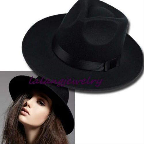 SUN VISOR MEN WOMEN HARD FELT WIDE BRIM FEDORA PANAMA HAT AUTUMN VINTAGE CAP