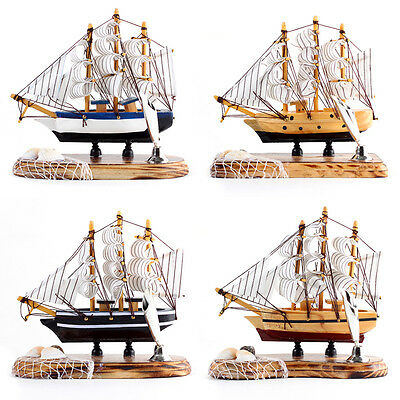PEN HOLDER 15cm Wood Mini Miniature Model Interior Sailing Boat Ship Decor Props