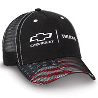 low priced 70227 ac33f New with tags BLACK MESH CHEVY FLAG CAP HAT CHEVROLET TRUCKS! RED WHITE  BLUE BILL SILVERADO