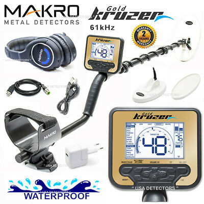 Makro GOLD KRUZER Metal Detector With 2 Search Coils + WIRELESS HEADPHONES !