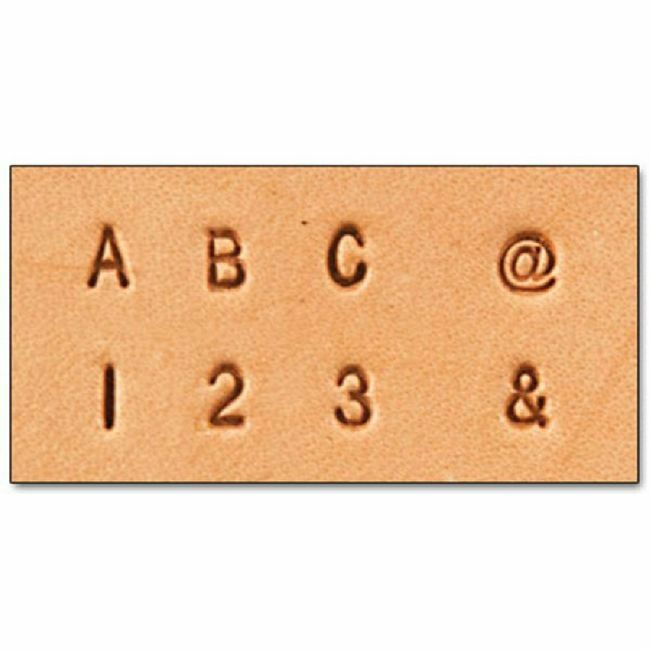 "Craftool 1/8"" (3 mm) Alphabet & Number Set 8137-10"