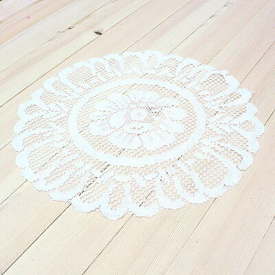 4 Pcs Flower Embroidered Lace Table Runner Cloth Mat Home Wedding Party Interior