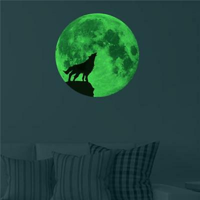 Moon Earth 3D Wall Stickers for Kids Room Glow In The Dark Home Decor