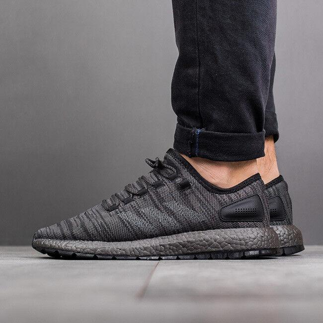 f5b7894844b05 Mens ADIDAS PUREBOOST x ALL TERRAIN Pure Boost ATR Triple Black Running  Shoes