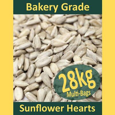 28kg Sunflower Hearts PREMIUM BAKERY GRADE Wild Bird Food Dehulled Seeds Kernels