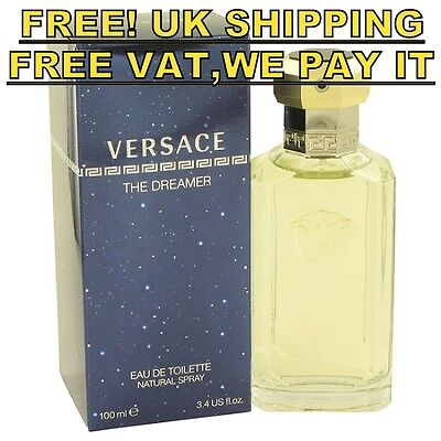 GIANNI VERSACE THE DREAMER MEN COLOGNE 100ML EDT MASCULINE PERFUME FRAGRANCE P&P