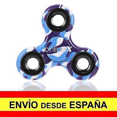 Peonza Dedos SPINNER Fidget Juguete Entretenimiento Antiestres Azul Nuevo a2716