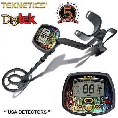 """Teknetics DIGITEK Metal Detector With 7"""" WATERPROOF Search Coil"""