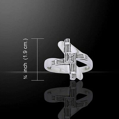 Cross St  Brigid  925 Sterling Silver Ring By Peter Stone