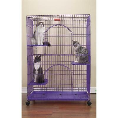 """ProSelect Foldable Cat Cages 48"""" High-Black"""