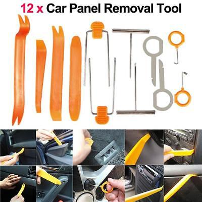 12 Car Audio Door Clip Panel Trim Dashboard Kit Radio CD Removal Pry Tool Set LG ()