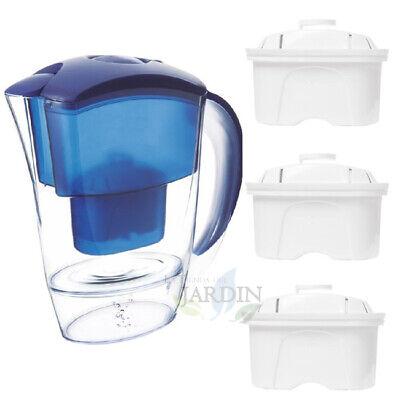 JARRA PURIFICADORA de agua 2 LITROS + 3 Filtros de recambio brita...