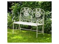 New sage green or cream garden bench