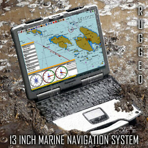 13 INCH GREAT LAKES MARINE NAVIGATION SYSTEM + CHARTS + GPS