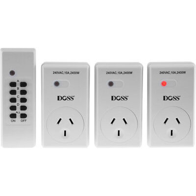 Doss MRC03V2 Remote RF Mains Outlet Switch Switcher Power Controller 3 Outlet