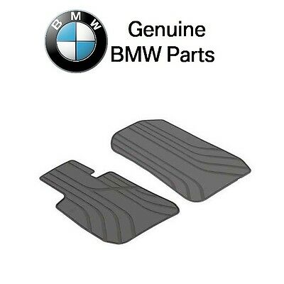 BMW Front Floor Mat Set All Weather Rubber Anthracite Black Genuine 51472311024