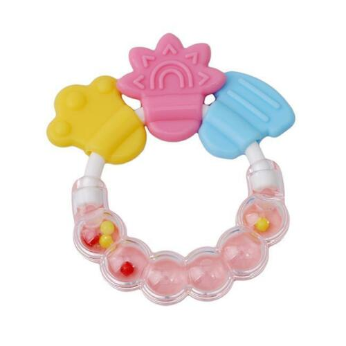 Baby Dental Care Toddler Teether Chew Toy Jingle Design Infant Pacifier LE