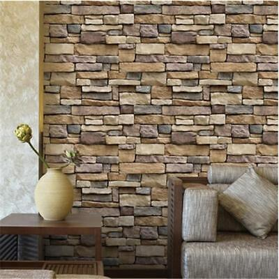 - Wall 3D Brick Stickers Waterproof Foam Home Self Adhesive Wallpaper Decor Jian