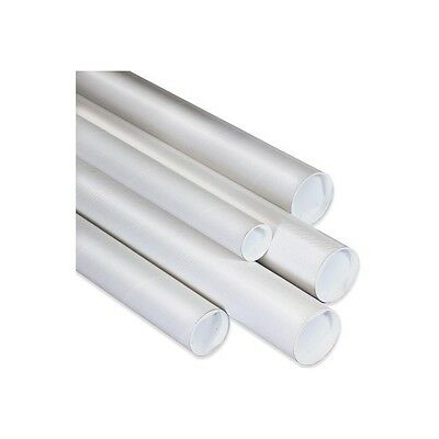 Mailing Tubes With Caps 2x30 White 50case
