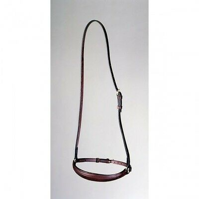 COB Silver Fox DARK Oil Leather English Hunt Seat Show CAVESON Noseband 4 Bridle