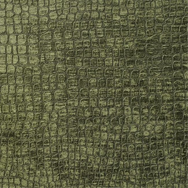 Designer Fabrics K0151Q 54 in. Wide Dark Green Textured Alligator Shiny Woven...