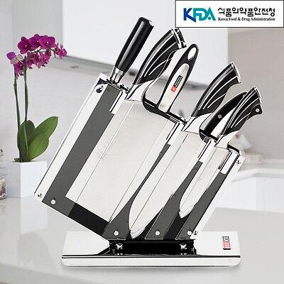 7Pcs Knife Set Kitchen Cutlery Japanese Chef Sashimi Cook Sharpener Sushi Knives