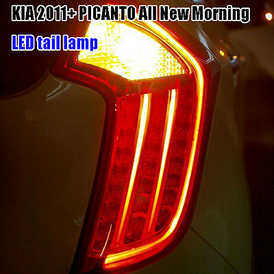 LED Tail Light Rear Assy Full Kits For KIA 2011-2015 PICANTO Morning