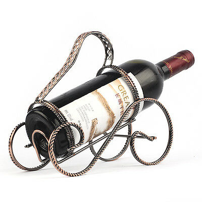 Metal Wine Bottle Holder Storage Caddy Classic Carriage Shaped Rack at Table
