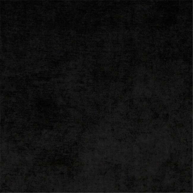 Designer Fabrics D243 54 in. Wide Black Solid Woven Velvet Upholstery Fabric