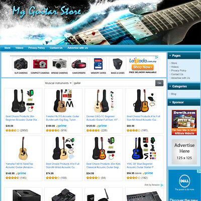 Guitar Store - Premium Affiliate Website For Sale Outstanding Income Potential