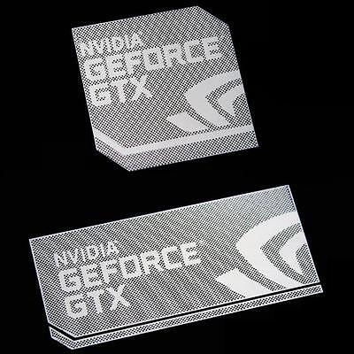 NVIDIA GEFORCE GTX Case Badge Polished Metal/Chrome Sticker 2 sizes USA seller