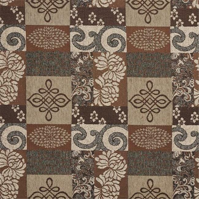 Designer Fabrics F534 54 in. Wide Brown And Beige Large Scale Chenille Uphols...