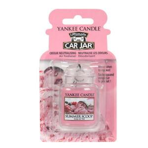 Yankee Candle Car Jar Air Freshener Freshner Fragrance Scent - SUMMER SCOOP