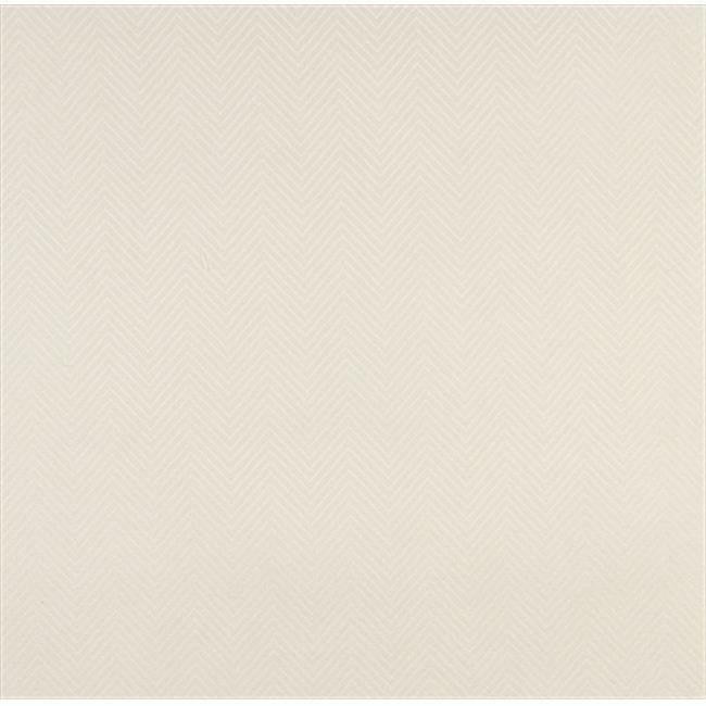 Designer Fabrics C469 54 in. Wide Off White Velvet Chevron Upholstery Fabric